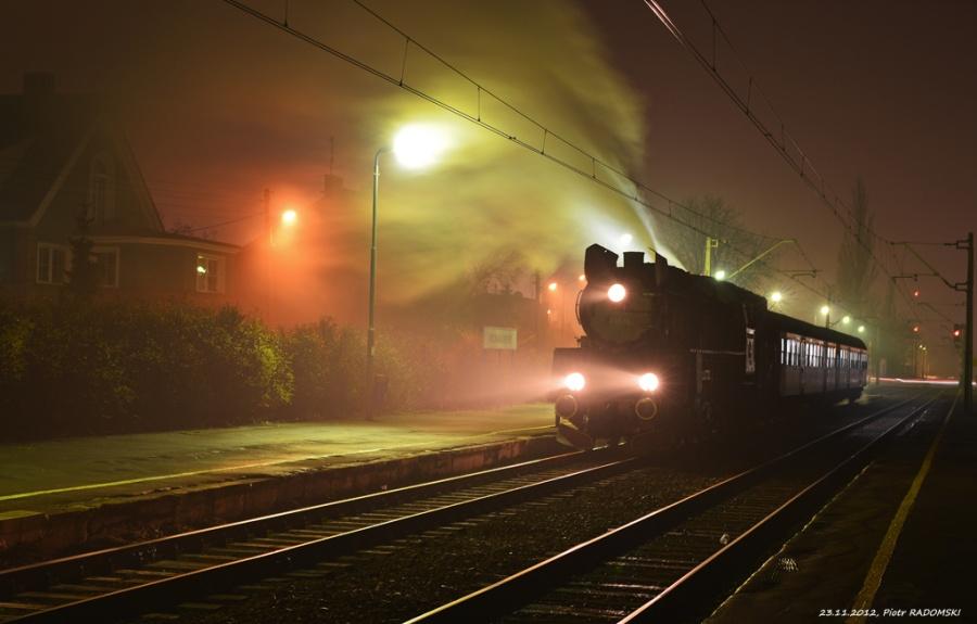 Poznań - Dębiec, Parowóz Ol49-69 z pociąg osobowy z Poznania do Wolsztyna.
