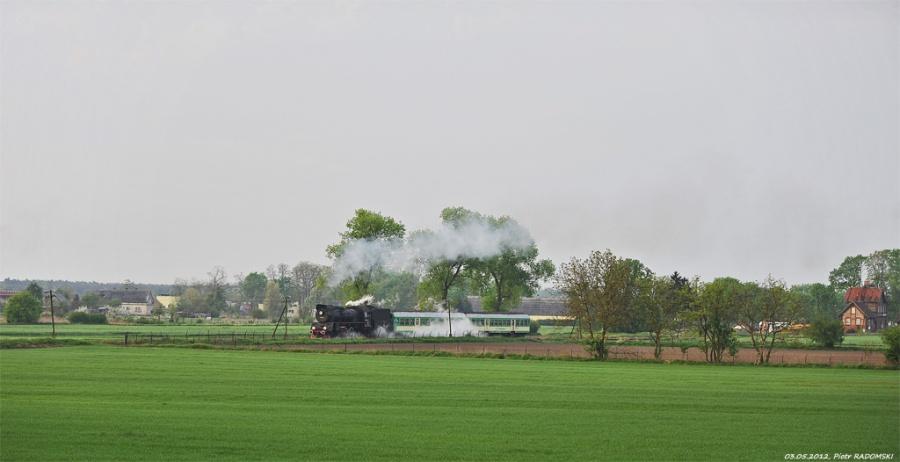 Tłoki, pociąg osobowy Wolsztyn - Poznań Gł.