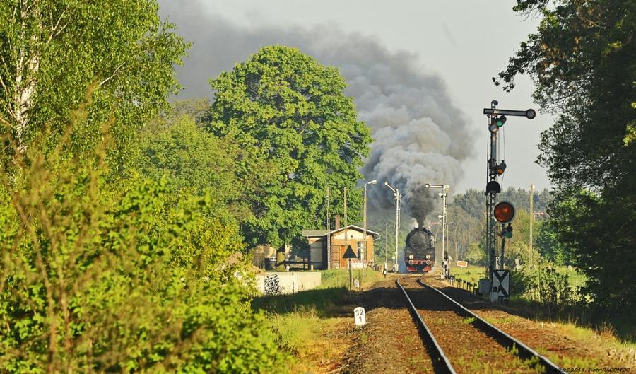 Nowa Wieś - Mochy. Pociąg osobowy Wolsztyn - Leszno.