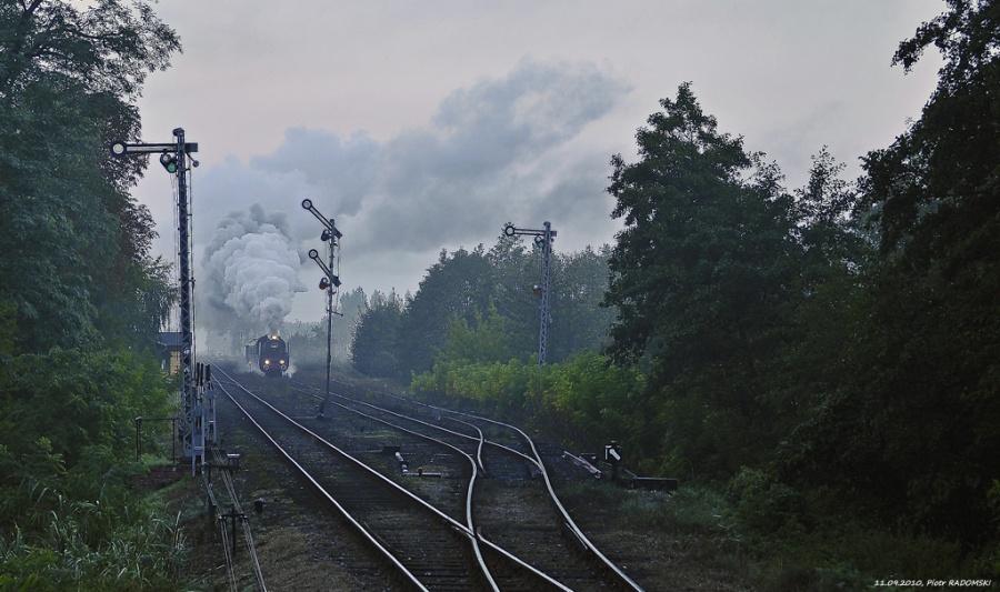 Włoszakowice. Pociąg specjalny Wolsztyn - Zielona Góra.