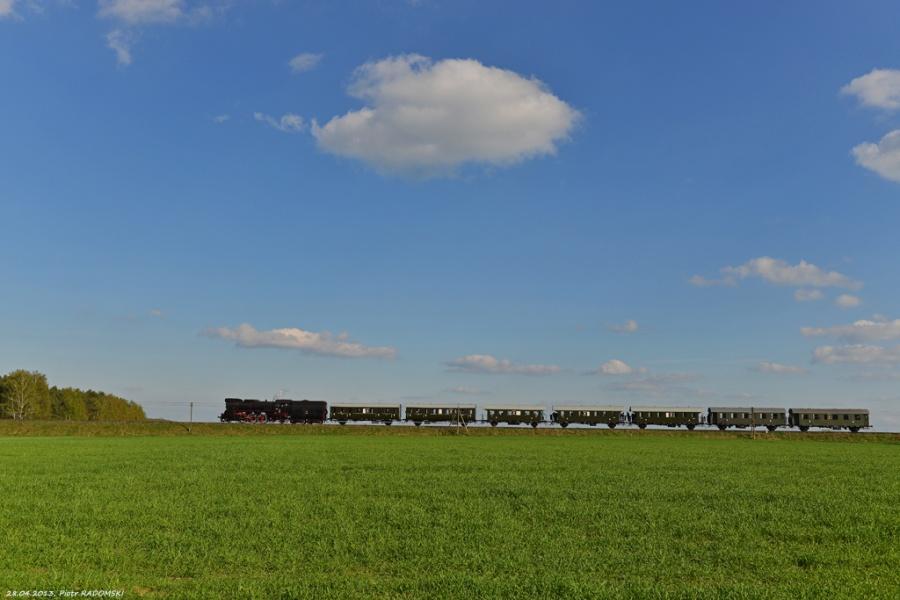 Gradowice, pociąg specjalny, Wolsztyn - Grodzisk Wlkp.