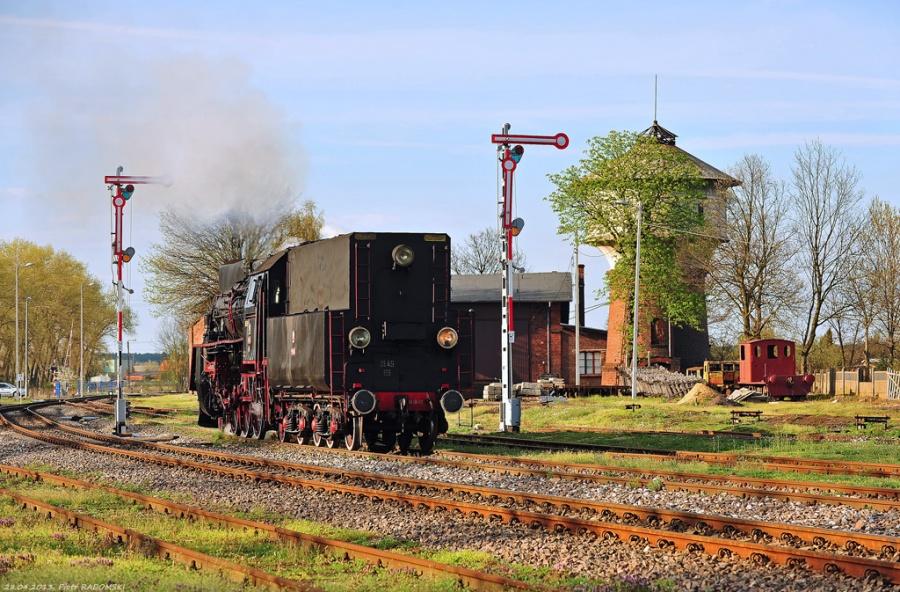 Grodzisk Wlkp., pociąg specjalny, Wolsztyn - Grodzisk Wlkp. - Wolsztyn. Manewry parowozu.