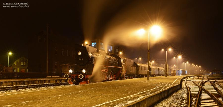 Grodzisk Wlkp. Pociąg specjalny z Poznania do Wolsztyna gotowy do odjazdu