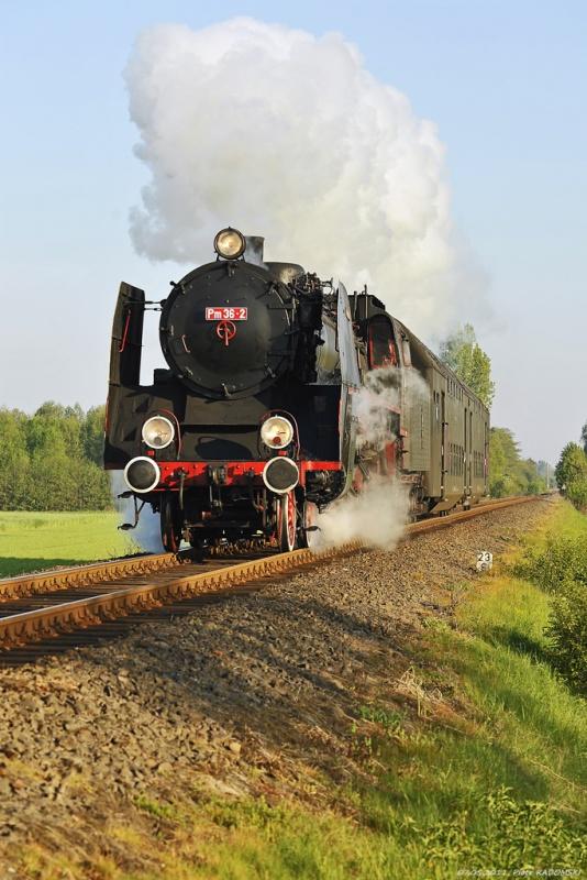 Starkowo. Pociąg osobowy Wolsztyn - Leszno.