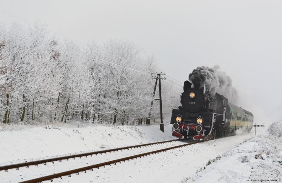 Trzebaw - Rosnówko. Pociąg osobowy  Poznań Gł. - Wolsztyn.