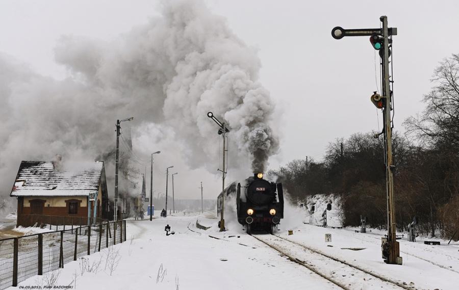 Stęszew. Pociąg osobowy Poznań Gł. - Wolsztyn.