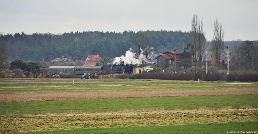 Nowa Wieś - Mochy. Pociąg osobowy Leszno - Wolsztyn.