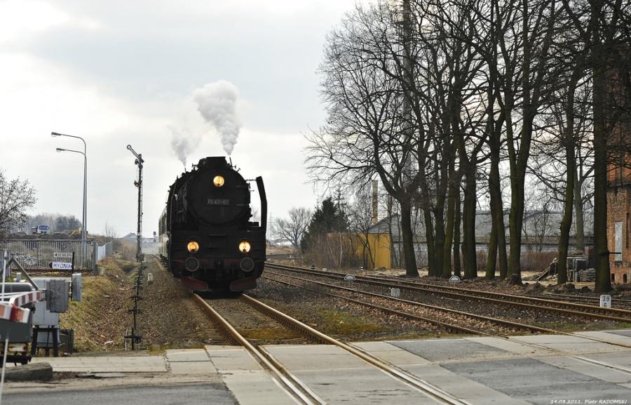 Wolsztyn. Pociąg osobowy Leszno - Wolsztyn.
